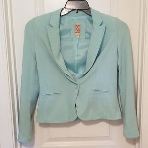 Mint Green Blazer Suit Jacket